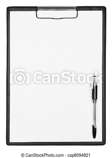 Blank clipboard with pen - csp8094821