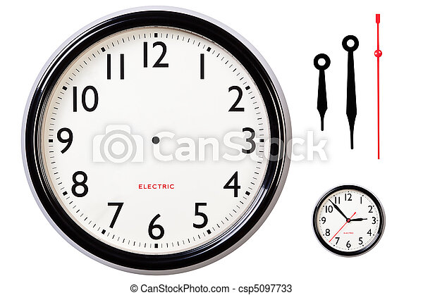 Blank clock face and hands - csp5097733