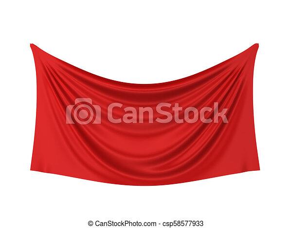 Blank cloth banner