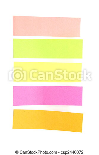 Blank colorful sticky notes ready for your text. - csp2440072