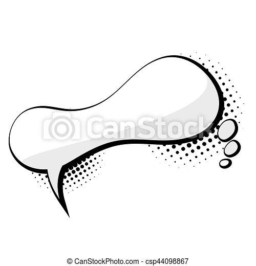 Blank comic speech abstract cloud bubble - csp44098867