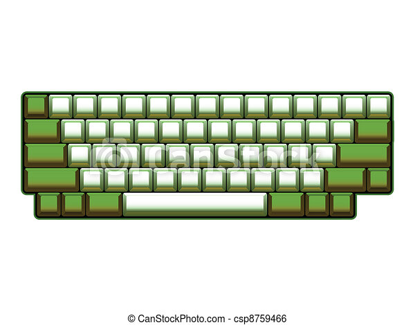 blank computer keyboard layout - realistic illustration - csp8759466