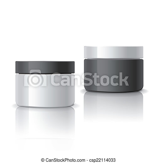 blank cosmetic containers set - csp22114033