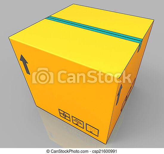 Blank Delivery Box Shows Copy space For Message - csp21600991