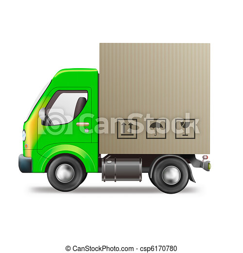 blank delivery or moving truck - csp6170780