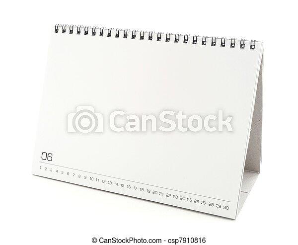 blank desktop calendar - csp7910816