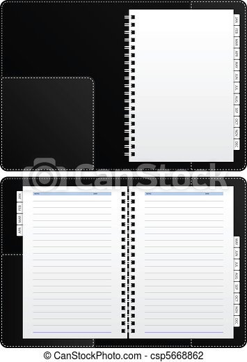 Blank Diary Notebook - csp5668862