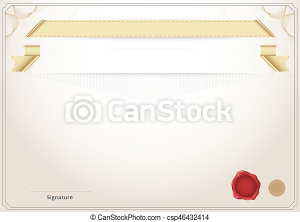 Blank Diploma And Certificate Template Background Vector Illustration