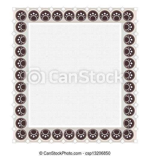 Blank Diploma Frame Template - csp13206850