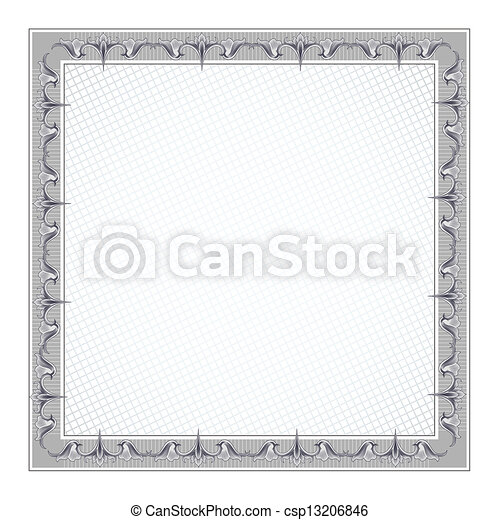 Blank Diploma Frame Template - csp13206846