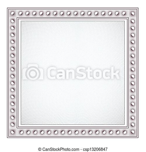 Blank Diploma Frame Template - csp13206847