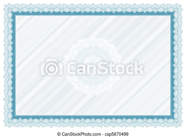 Blank diploma with rosette - csp5670499