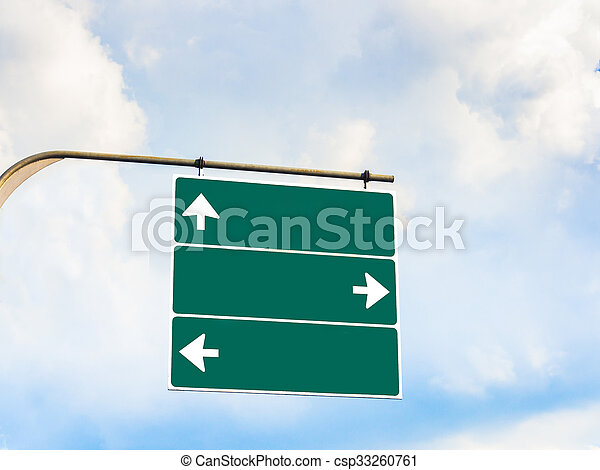 Blank direction signboard for copy space - csp33260761