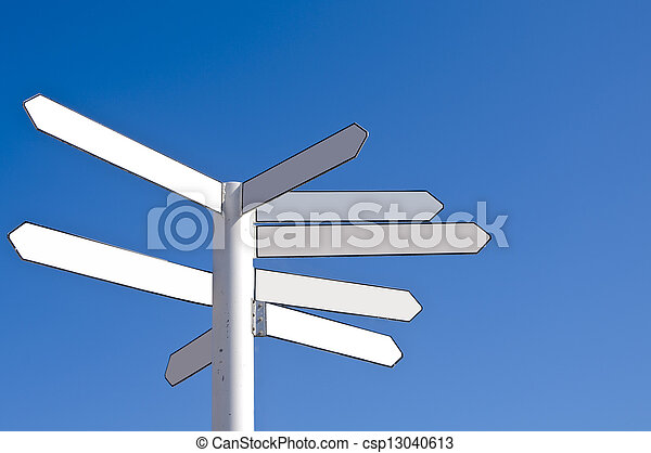 blank direction signpost a direction signpost with empty direction