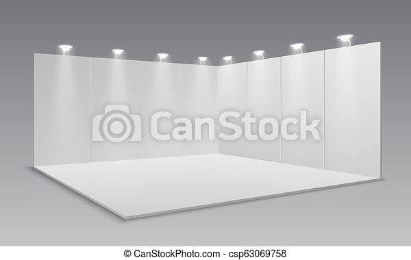 Exhibition Stand White : Blank display exhibition stand white empty panels promotional