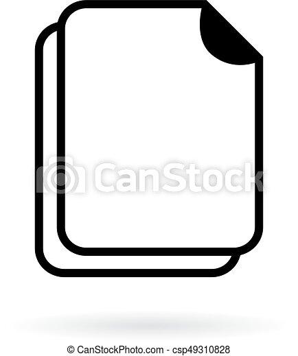 Blank document vector icon - csp49310828