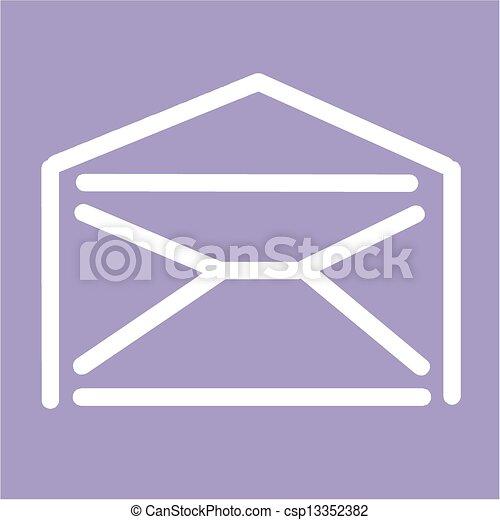 Blank envelope - csp13352382