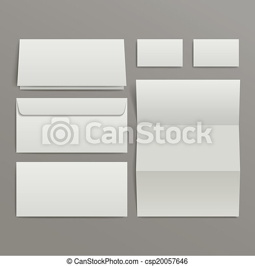 blank envelopes business card and folder - csp20057646