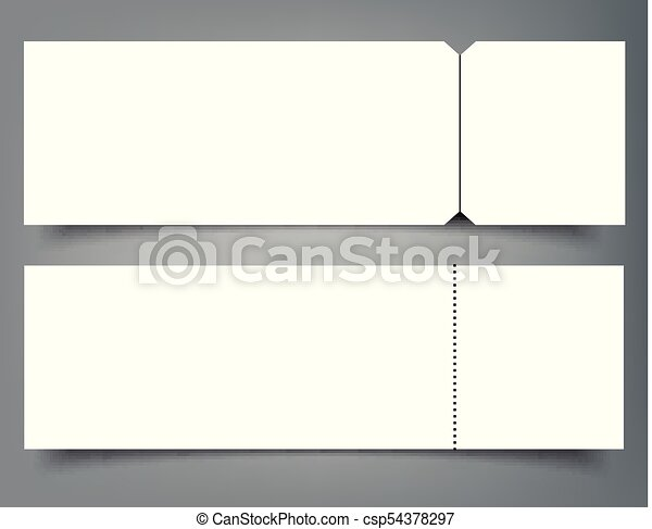 Blank event concert ticket mockup template. concert, party... eps ...