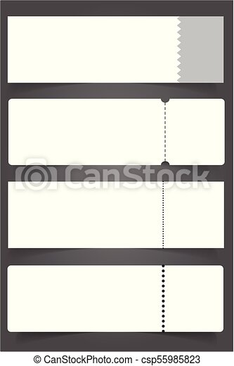 Blank event concert ticket mockup template. concert, party... vector ...