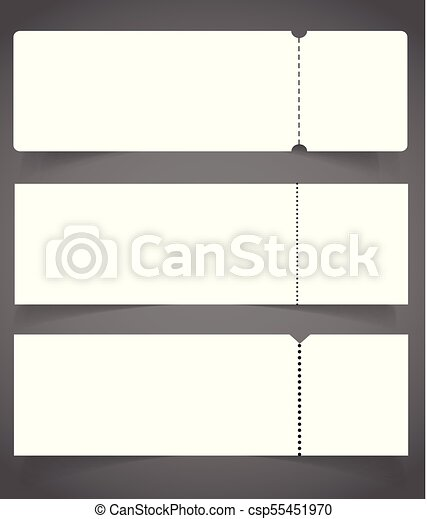 Blank event concert ticket mockup template. concert, party ...