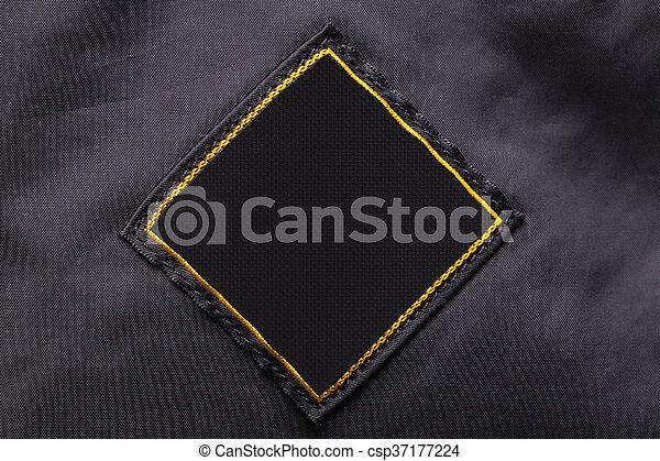 Blank fabric label - csp37177224