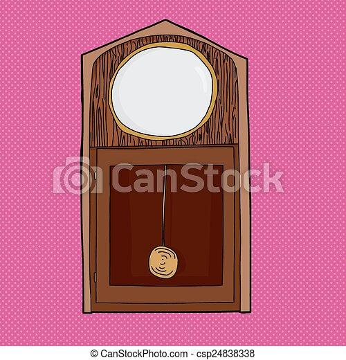 Blank Face Grandfather Clock - csp24838338