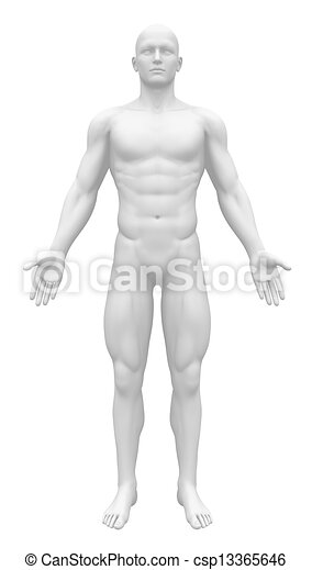 Blank figure - front view - csp13365646