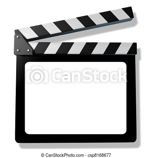 Blank Film slate or clapboard  - csp8168677