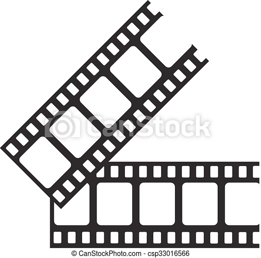 Blank film strip. film frame, vector illustration. flat style icon.