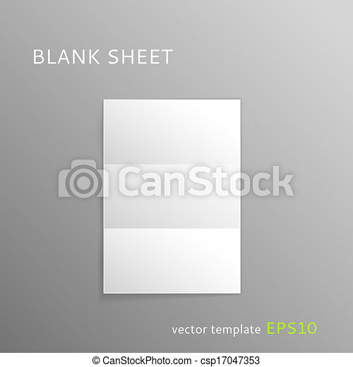 Blank folded paper sheet - csp17047353