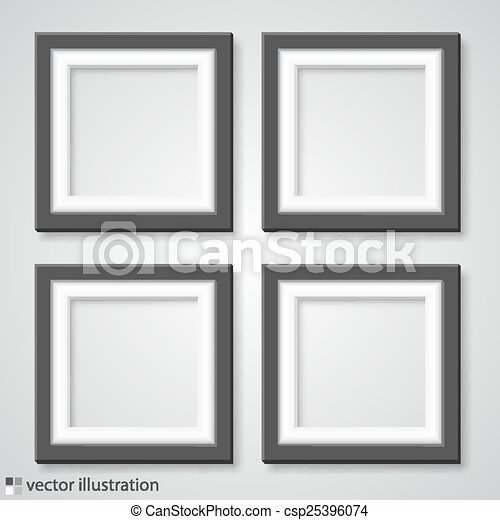 Blank frame on a white background. vector illustration.