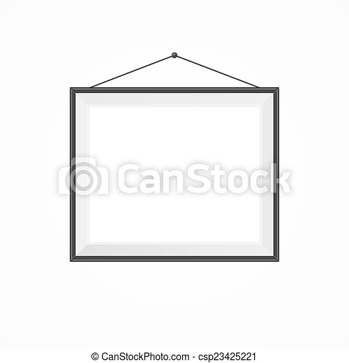 Illustration of blank frame on a white vector illustration - Search ...