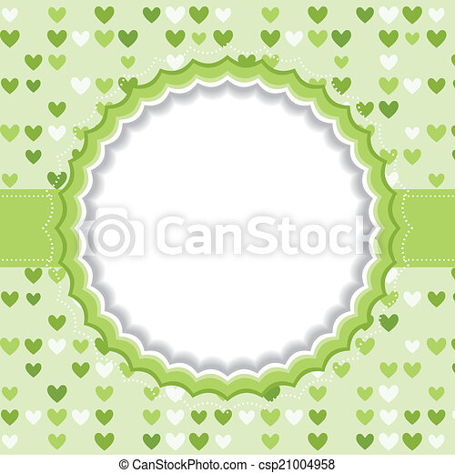 Blank frame with heart background. - csp21004958
