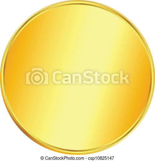 Blank gold coin - csp10825147