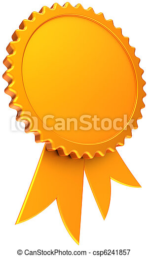 Blank golden award ribbon template award ribbon blank total golden blank golden award ribbon template csp6241857 maxwellsz