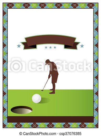 Vector Of Blank Golf Tournament Flyer Template - A Template For A