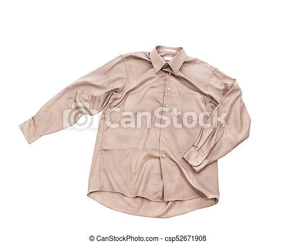 Blank grey shirt isolated on white background - csp52671908
