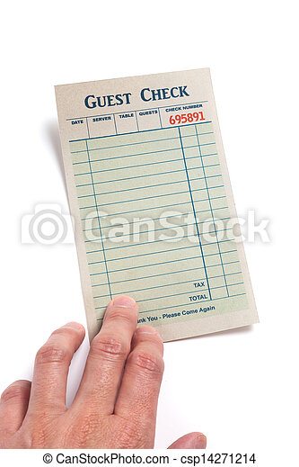 Blank Guest Check  - csp14271214