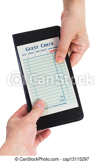 Blank Guest Check  - csp13115297