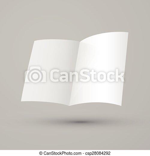 blank half-fold brochure design
