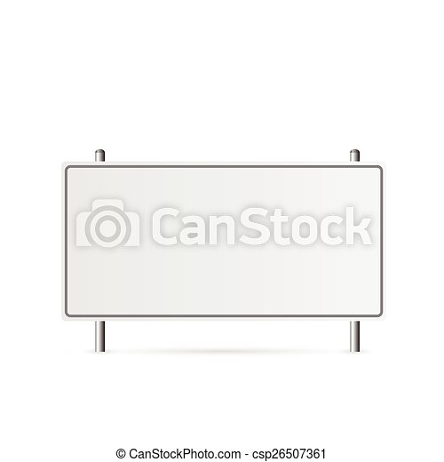 Blank Highway Sign - csp26507361