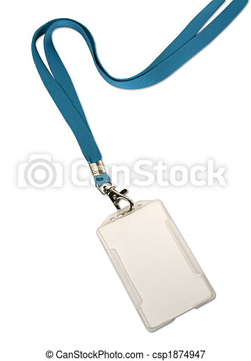 Blank ID card / badge on white background - csp1874947