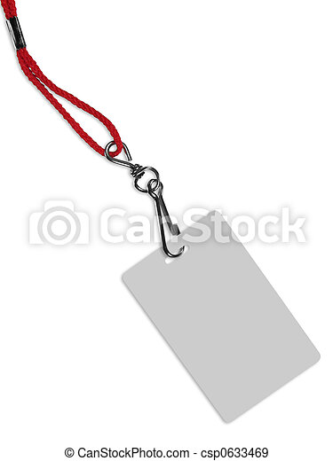 blank id card badge with copy space isolated on white contains