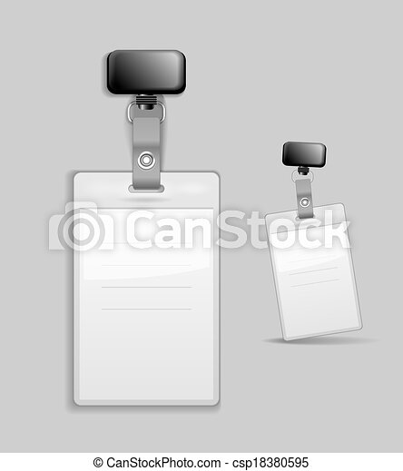 Blank identification card Badge ID template - csp18380595