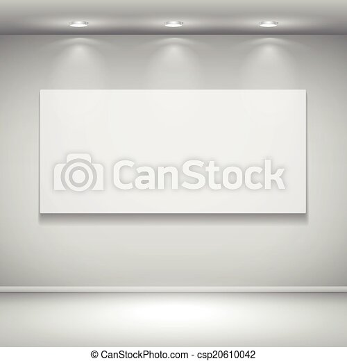 blank illuminated frame on the wall - csp20610042