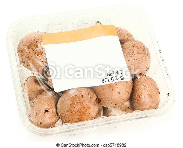 Blank Label Container Mushrooms - csp5718982