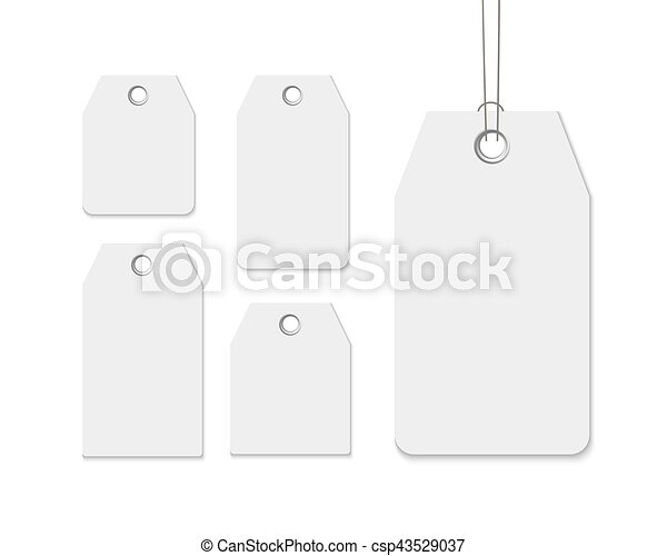Blank Labels Template Price Tags Set Realistic Vector  Vectors
