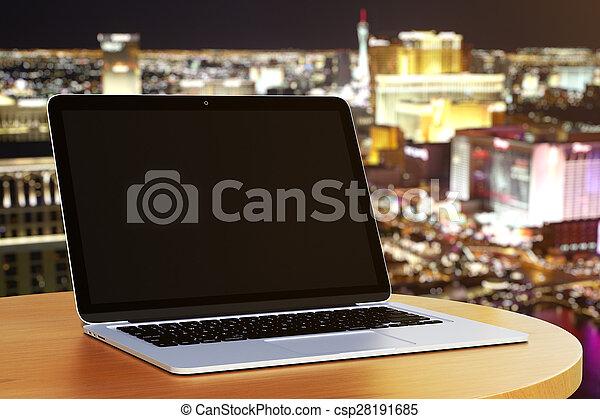 blank laptop - csp28191685