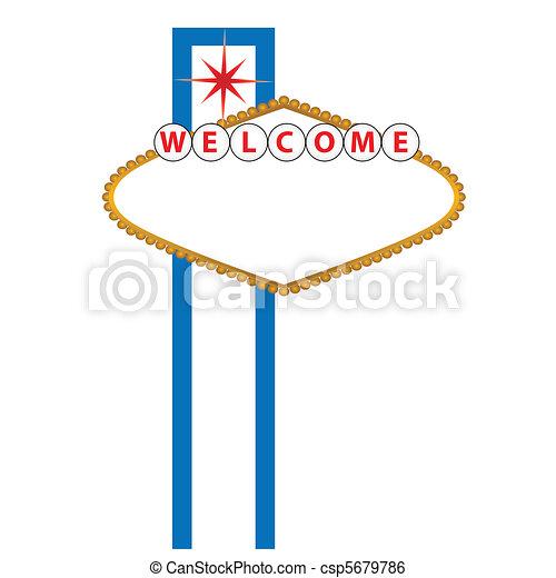 Blank Las Vegas sign - csp5679786
